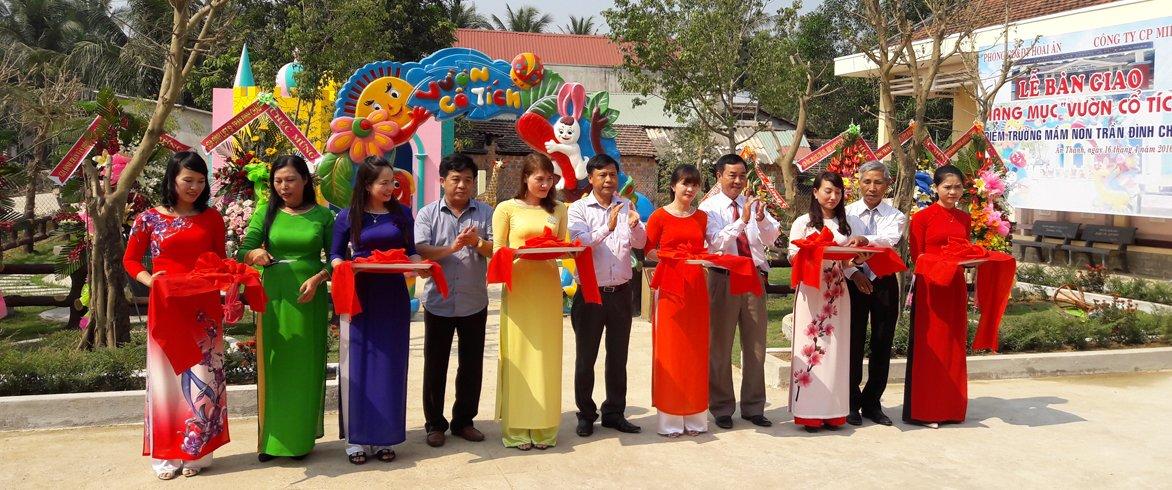 Lễ bàn giao Vườn cổ tích cho Trường mầm non Trần Đình Châu